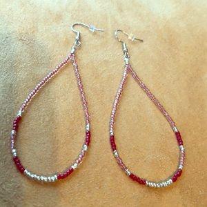 Jewelry - Beaded Dangle hoops